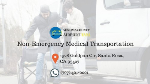 Sonoma County Airport Taxi provides the most convenient taxi service along with specialized non-emergency medical transportation service in Northern California . For more information please visit - http://sonomacountyairporttaxi.com/taxi-services/non-emergency-medical-transportation/