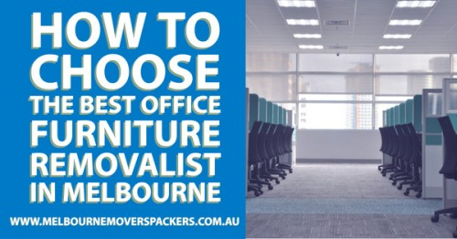 Relocating an office is not an easy task as there are loads of shifting that you need to handle. Fixing all these problems with one solution is possible when you rely on the professional removalists in town. Most of these companies provide you affordable packages in office furniture shifting that you can explore. Now, let us know how you can choose the best office furniture removalist in Melbourne.  https://www.melbournemoverspackers.com.au/how-to-choose-the-best-office-furniture-removalist-in-melbourne/