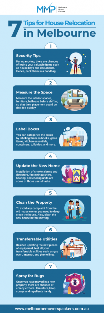 If you are preparing for house relocation in Melbourne, there are multiple aspects that you need to ensure. Planning ahead always makes you read for relocation even there are small items that would be shifting. To help you in this task, here are the 7 tips shared by none other than the professionals. So, go ahead and follow these tips to avoid any kind of confusion during moving.  https://www.melbournemoverspackers.com.au/7-tips-for-house-relocation-in-melbourne/