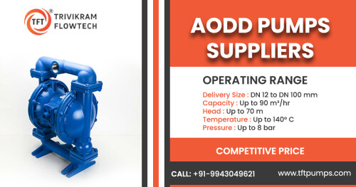 #tftpumps - Leading Air-operated double-diaphragm (AODD) pumps suppliers in India. Heavy duty centrifugal design. Gland packed / mechanical seal. Cost effective solution.  Enquire Now +91-8489449621 +91-95974 38001  http://tftpumps.com/productspost/aodd-pumps  #AODDPumps #AoddPumpsSuppliersIndia #IndustryPumps #PumpSuppliersCoimbatore #PumpSuppliersBangalore #PumpSuppliersKerala #PumpSuppliersIndia #IndustryPumpSuppliersIndia #TFTpumps #Coimbatore #Bangalore #Kerala