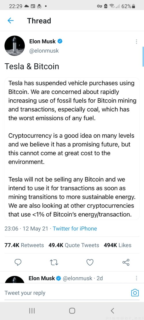 Elon Musk manipulates Cryptocurrency markets or Musks mentally off the rails. The latter is highly unlikely given his public networth.. role on Billionaire 4D chess............