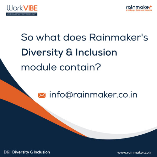 """Several firms have necessary unconscious bias training India. These workshops intend to assist managers and administrators to go beyond the obsolete """"tick-box"""" strategy to inquire deeper concerns about biases in organisations.   https://rainmaker.co.in/diversity-inculsion-training-india/"""