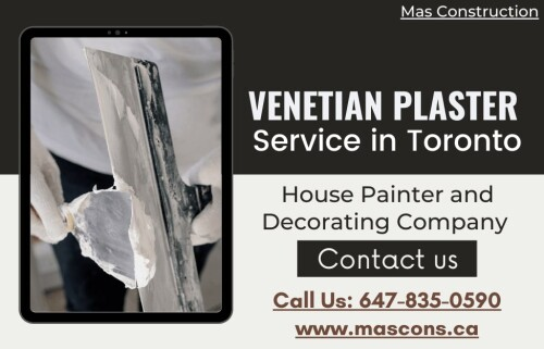 One of the most popular interior design trends is Venetian plaster, it gives your home a new look. If you're looking to install Venetian plaster in your home, you may want to consider hiring a professional. Professional plasterers have the tools and the experience to ensure that your walls will be smooth and ready for paint. Contact today to hiring a professional Venetian plasterer expert in Toronto so that your home is as beautiful as possible.     Contact details Phone: +1 647-835-0590 Email: Info@Mascons.Ca Website: https://www.mascons.ca/venetian-plaster/
