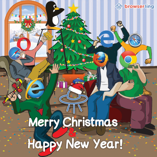 Merry browsery Christmas and Happy browsery New Year 2017!  For more Internet browser jokes visit https://comic.browserling.com. New jokes about IE, Edge, Firefox, Safari and Opera every week!