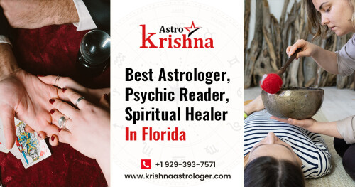 Astrologer Krishna - Famous Indian Astrologer in Florida. Solve your all kind of problems get online solution with pure astrology contact immediately.  Get solutions for any problem like Love and Relationship, Extra-Marital Affair and Divorce, Health Problem, Family Depression, Late Pregnancy, and more.  Visit Us: https://www.krishnaastrologer.com/  Service Area: http://www.krishnaastrologer.com/astrologer-in-florida.html  📞 +1 9293937571