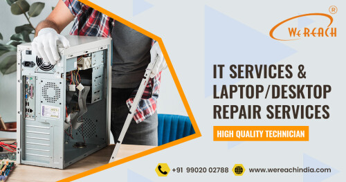 Are you looking for Laptop repair and Service Center in Koramangala, Bangalore? If Yes, then you are in the right place. We are the best in offering laptop repair and service in koramangala at affordable prices! Call Today>> Get our service in 50% offer price.  For More Details: https://www.wereachindia.com/