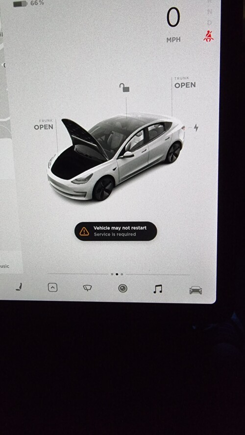 2021 Tesla Model 3 Disabled by numerous hardware errors!