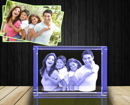 Buy 3D crystal photo in Canada, a great gift for birthdays, Valentine's Day, wedding, anniversary, engagement, Mother's Day, Father's Day, graduation, remembrance or memorial.