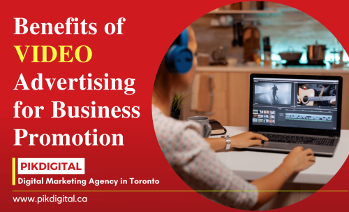 Video marketing has become a popular way of business promotions. There are many types of video ads and campaigns are created by digital marketing agency Toronto like Product Selling video, Promotional video, educational video, viral video, and many more. Also, there are many video platforms are available for promotion. Read full in the article - https://pikdigitalcanada.blogspot.com/2021/09/video-advertising-for-business-promotion-toronto.html