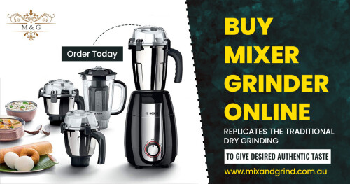 Currently, in these lock down days, the trending sale is on the internet only, so there is a great opportunity to buy a wet grinder online from one and only in our mix and grind. Of course, you can see the lot of brands and collections made with 100% copper motor to grind for a long lasting time, and grinding process is easy to do in our ultra-wet grinder.   Check the wet grinder ranges on our website: https://www.mixandgrind.com.au/